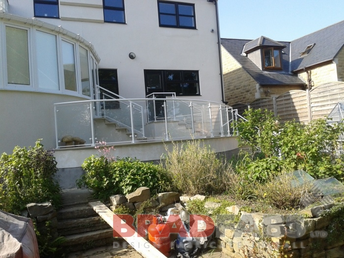powder coated garden balustrade