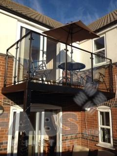 Balcony made by Bradfabs so the customer can enjoy extra living space