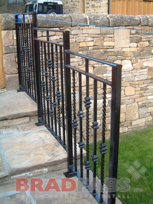 Mild steel, galvanised and powder coated railings by Bradfabs