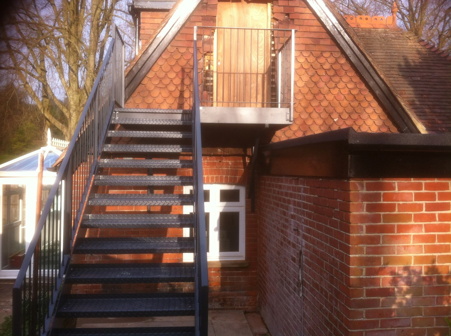 Caterham School - Fire Escape Stairs