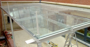Steel and Glass Canopy bespokely made to provide shelter
