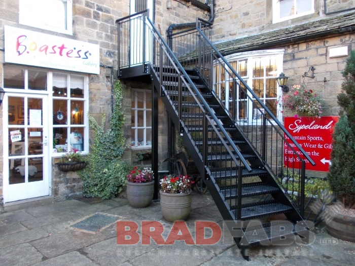 specially designed fire escape stairs