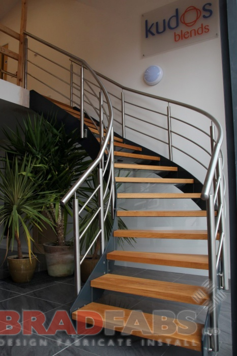 Commercial Curved Staircase fitted in Kidderminster