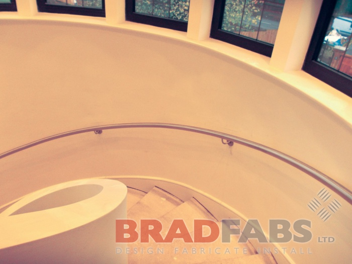 Curved mounted handrail by Bradfabs