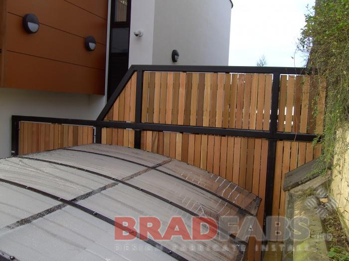 Bradfabs fabricated the steel frames which is uses to secure the timber