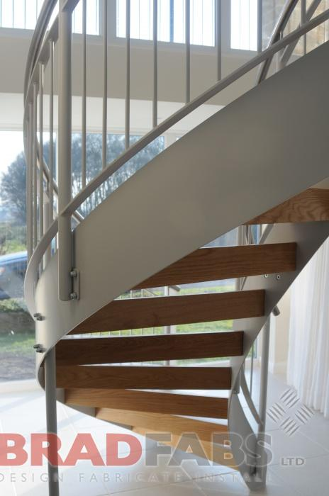 bespoke and modern helix staircase