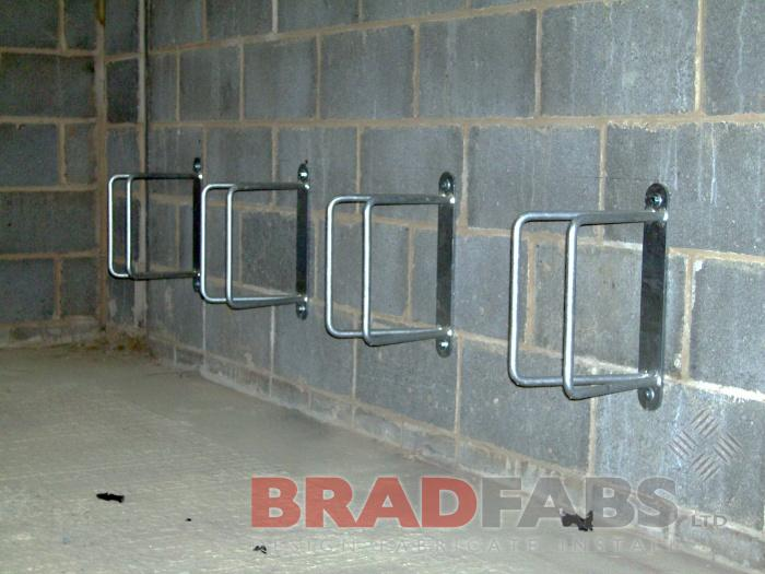 mild steel cycle racks, wall mounted cycle racks