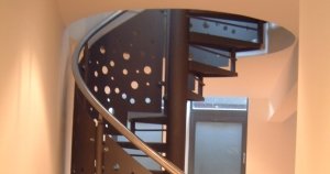 Domestic Spiral Staircase installed in Leeds, West Yorkshire.