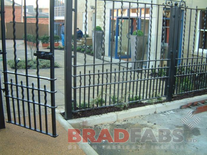 Mild steel, galvanised and powder coated gate by Bradfabs