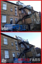 Steel fire escapes - uk Wide