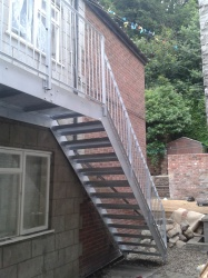 Steel Fire escape with Anti Slip Treads