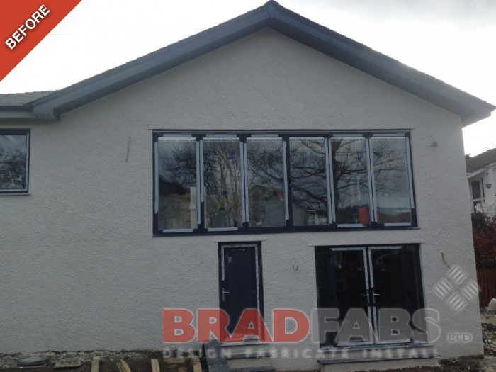Before image of the customers house before Bradfabs added their stunning new balcony!