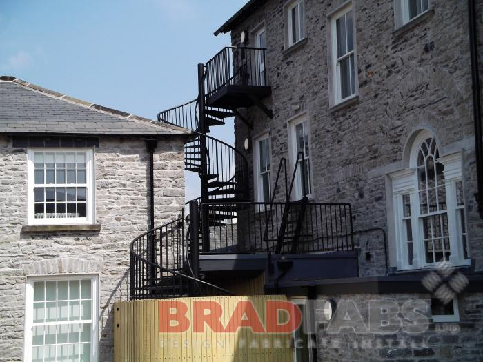 Spiral Staircase design to meet requirements for a listed building