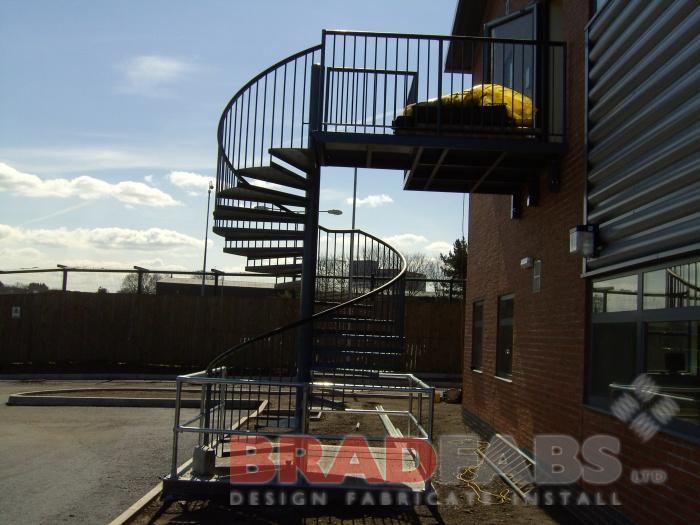 School Fire Escape · School Spiral Staircase