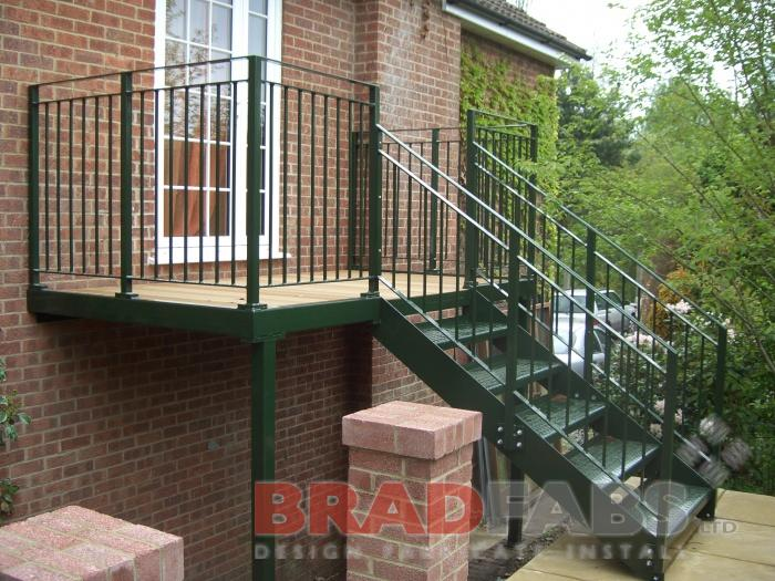External Steel Staircase Installed By Bradfabs In London