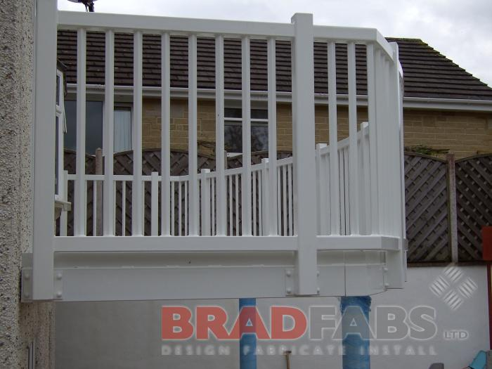 Custom Made Steel balcony fabricated by Bradfabs in West Yorkshire