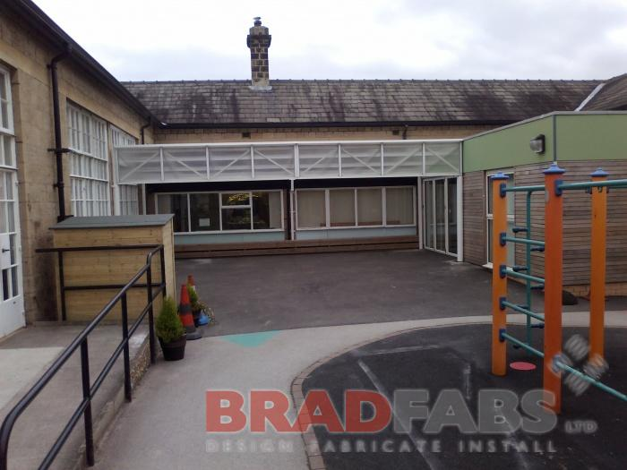 commercial canopies, school canopies, industrial canopies, weather canopies, playground canopies