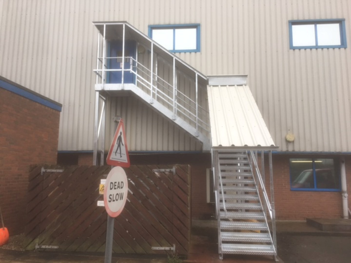 External Fire Escape with Canopy