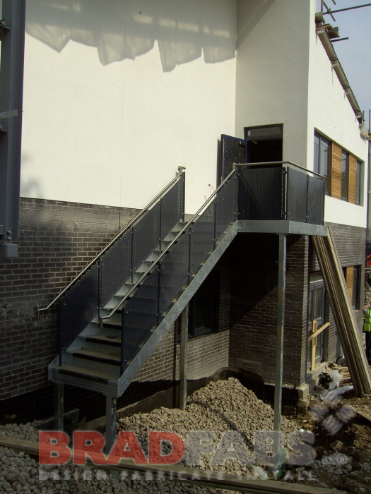 Access staircase for school by Bradfabs