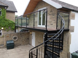 Bradfabs made this bespoke balcony and spiral staircase combination