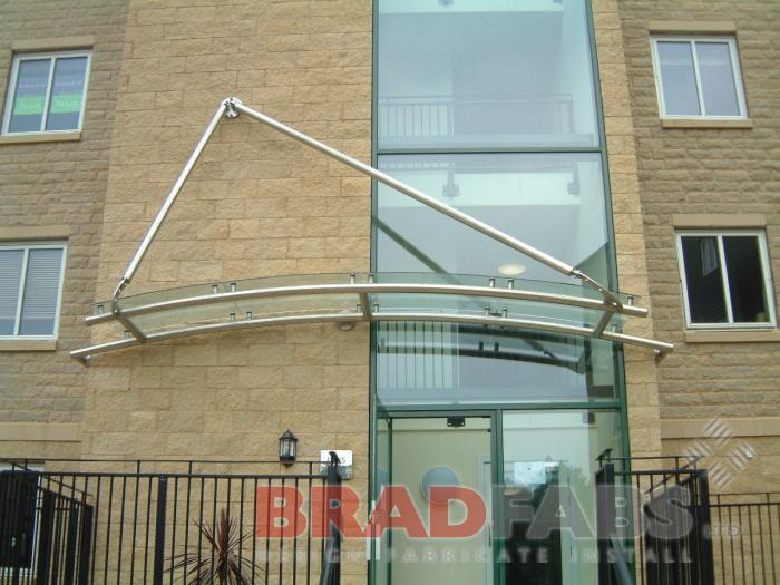 A canopy with a Wow Factor - Brushed stainless steel and glass design : door canopy leeds - memphite.com