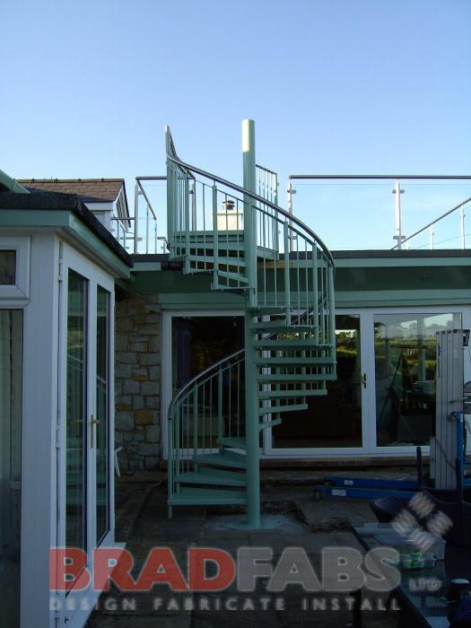 powder coated stairs
