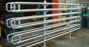 One off heat exchange fabricated by bradfabs in bradford, stainless steel heat exchange