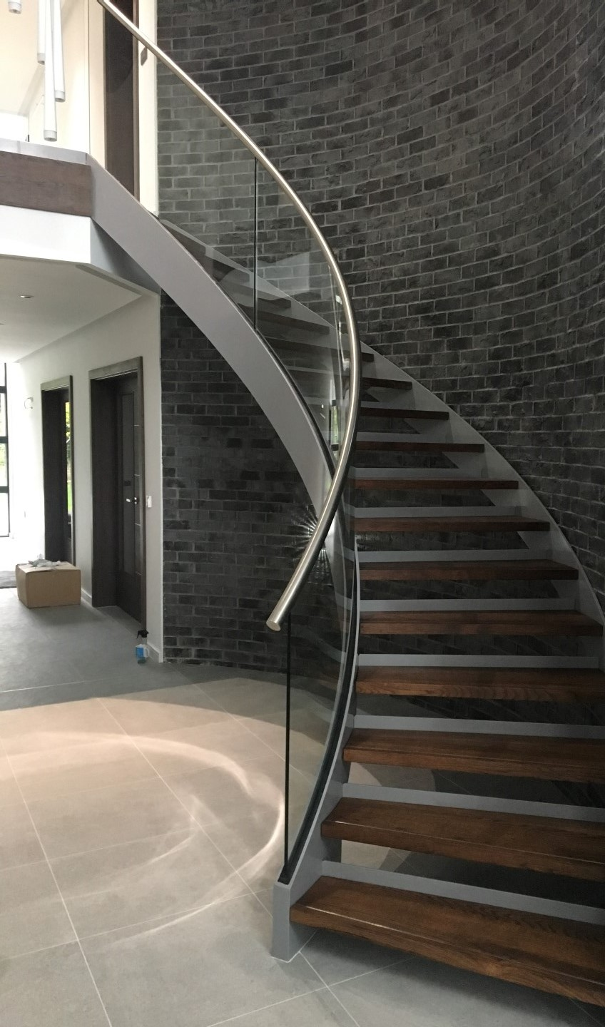 stunning bespoke helix with curved glass
