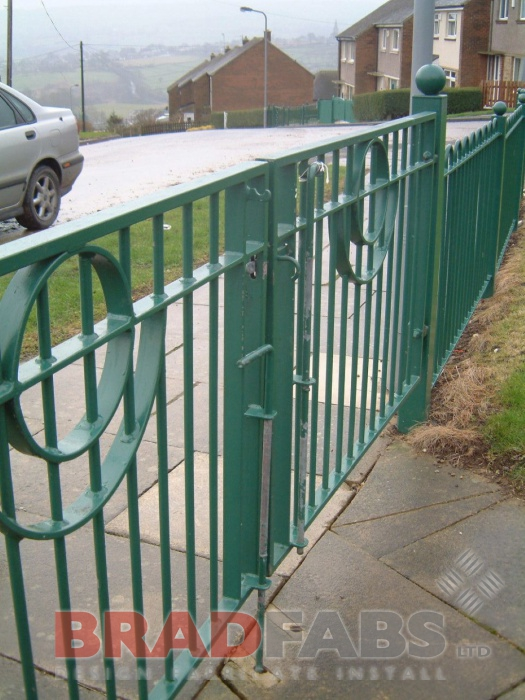 metal fencing provided by Bradfabs