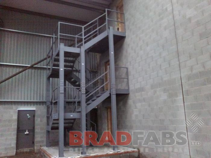external industrial fire escape