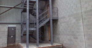 External Steel Staircase Installed By Bradfabs In West Yorkshire