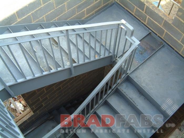 UK wide Fire Escape - powder coated
