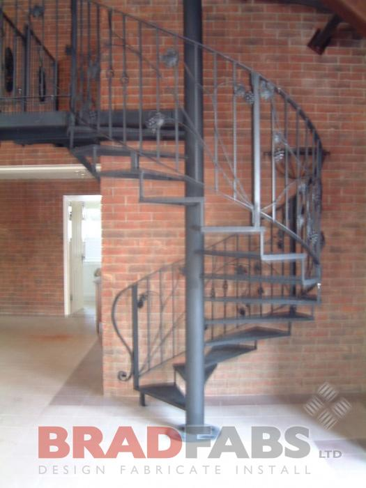 Spiral Staircase with access to swimming pool