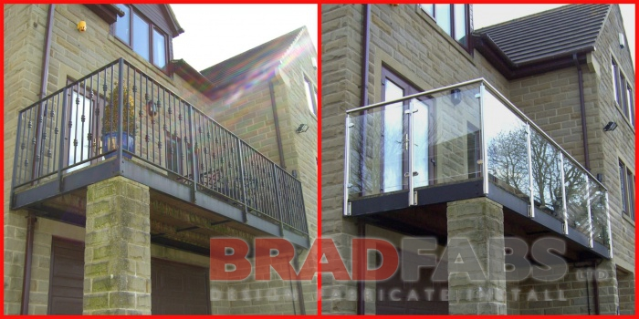 new replacement contemporary balcony