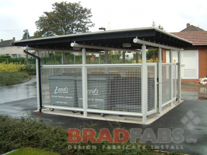 Bradfabs designed and installed this powdered coated bin store