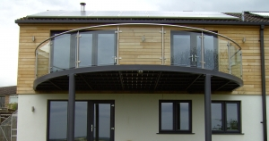 BRADFABS made this balcony for a new build in the Lake District