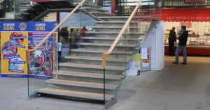 Glass And Steel Staircase In Lancashire