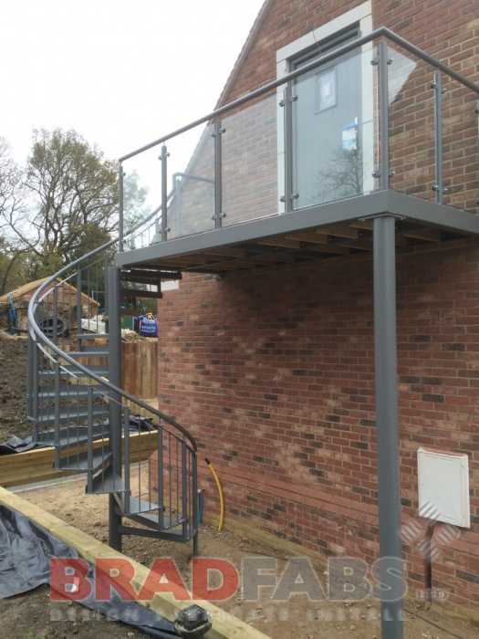 Mild steel, galvanised and powder coated spiral