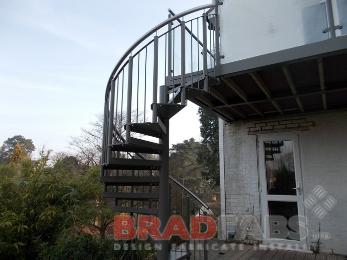 Spiral Staircase with Stainless Steel handrail