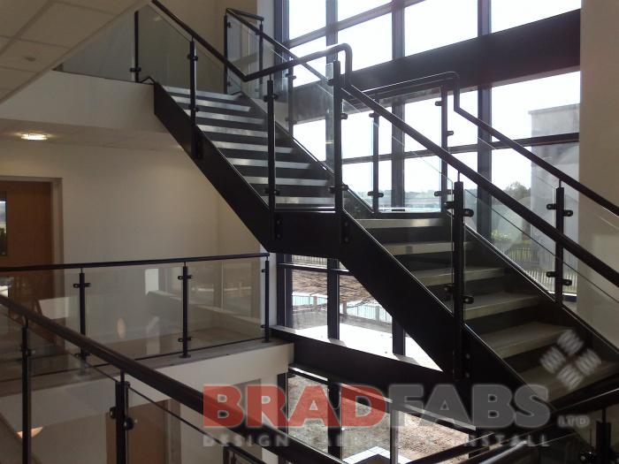 modern designed office staircase