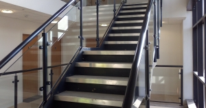 Steel and Glass Staircase In Bradford