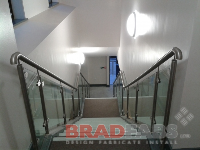 stainless balustrade straight stairs