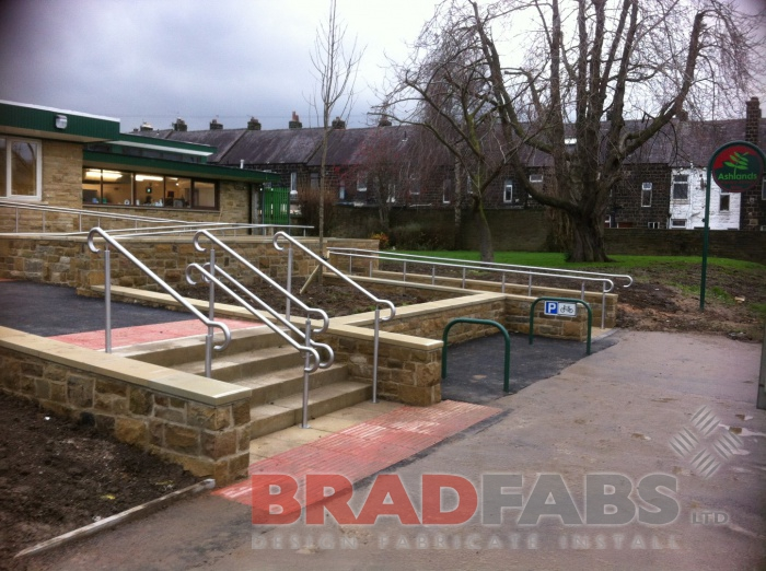 Playground railings supplied and installed by Bradfabs
