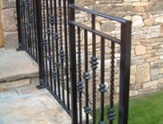 Wall Top Railings with Decorative Designs