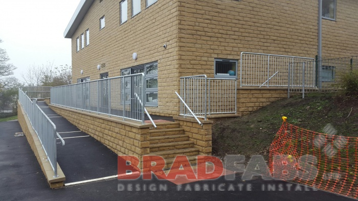 hand railings, steel hand rail, mild steel railings, galvanized railings by Bradfabs