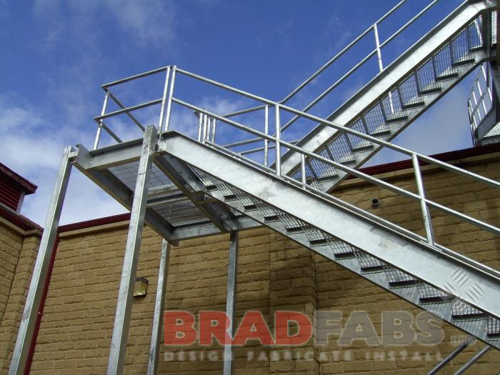 Bradfabs installed and designed this metal walkway and staircase