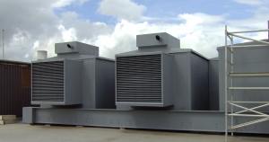 weather protected roof top generators, roof top generators fabricated by bradfabs