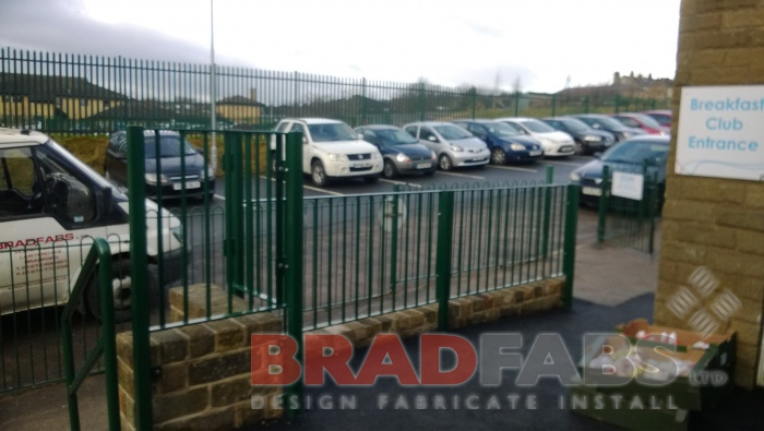 powder coated railing installed by Bradfabs