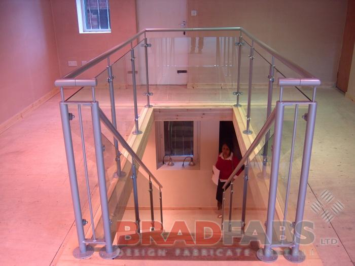 Steel balustrade, glass balustrade, balustrade, balustrading, outdoor balustrade, stair balustrade, contemporary balustrading, bespoke balustrading, garden balustrade