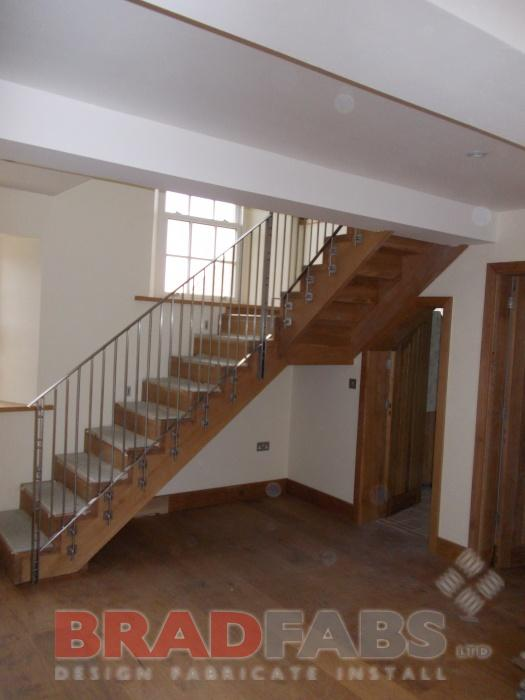 Modern Balustrade on an oak staircase